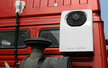 dc powered electric air conditioner for truck